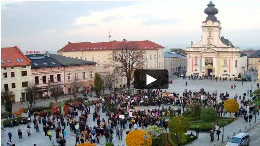 Ujęcia z kamer w Krakowie, Katowicach czy Warszawy