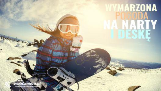 Ujęcia z kamer z ośrodków narciarskich w Polsce.