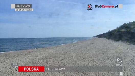 Zdjęcie z nowości Kamery z widokiem na puste plaże w Trzęsaczu, Pobierowie, Dziwnowie i Grzybowie. Zobacz jak pięknie wyglądają plaże o poranku.