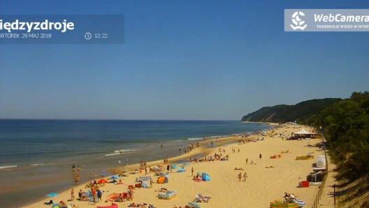 Zdjęcie z nowości Aktualna pogoda w Międzyzdrojach. Pięknie, słonecznie i ciepło - zobaczcie sami.