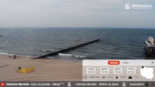 Zdjęcie z nowości Sezon letni uważamy za otwarty :-) Dziś 20 maja, można było w końcu zażyć kąpieli słonecznych m.in. w Ustroniu Morskim, gdzie temperatura powietrza oscylowała w granicach 20 stopni Celsjusza. Zobacz film.