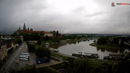Zdjęcie z nowości Fala kulminacyjna dotarła do Krakowa - zobacz jak podnosił się poziom wody na Wiśle I timelapse.