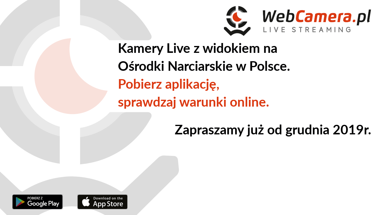 Kamery Live z widokiem na Ośrodki Narciarskie w Polsce. Zapraszamy już od grudnia 2019r.
